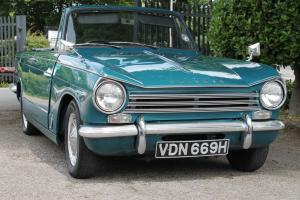 1970/H TRIUMPH HERALD 13/60 FACTORY CONVERTIBLE BLUE MANUAL Photo