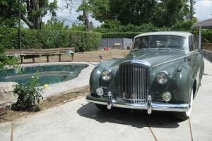 1961 Bentley S2, Moss green with sage top, classic lines.