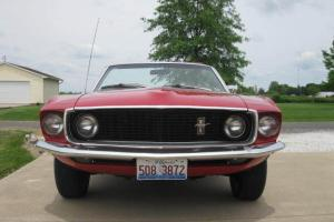 1969 Ford Mustang Convertible red, original 46,000 miles one owner
