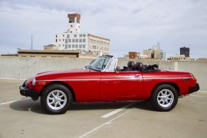 1979 MGB red with black interior, restored, lots of upgrades