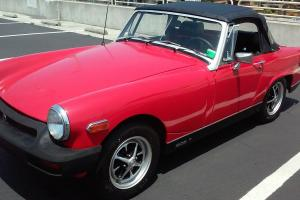 CLASSIC 1977 MG MIDGET ROADSTER SOLID RUST FREE TX CONVERTIBLE  47K ORIG
