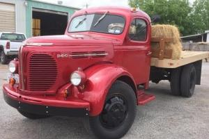 REO Speedwagon 1948, cherry red, working pto dump bed.