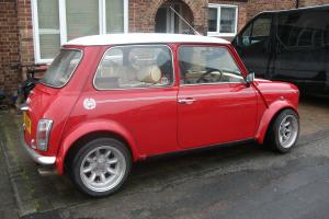 1991 Mini Cooper Flame Red full Leather interior complete rebuild