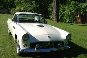 1955 Ford Thunderbird ( Cadillac Diamond Dust White w/ Pearl )