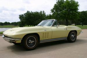 1965 CORVETTE ROADSTER OVER-RESTORED GOLDWOOD YELLOW PS PB RARE A/C ALL MATCHING