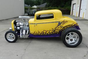 wicked yellow 1932 blown coupe
