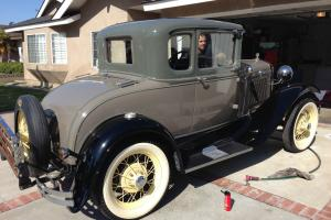 1931 ford Model A coupe with Rumble seat