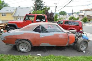 1969 camaro number matching barn find HUGGER ORANGE