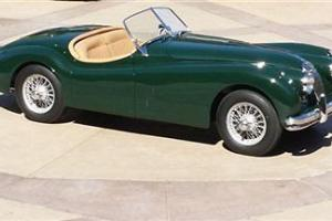 1956 JAGUAR XK 140 ROADSTER BRITISH RACING GREEN RESTORED RUST FREE RARE CLASSIC