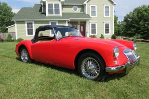 Recently restored 1959 MGA, rebuilt 1500 with soft top and tonneau