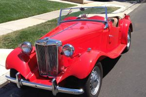 1953 MGTD - Red with Tan Leather Interior, Great Shape