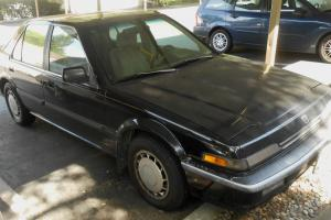 1989 Honda Accord LX-i Black 4-Door Sedan Sunroof Not Running