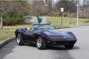 1974 CHEVY CORVETTE CONVERTIBLE 4 SPEED 350 SMALL BLOCK NUMBERS MATCHING BLOCK