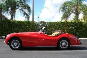 1954 JAGUAR XK 120 RARE CLASSIC RED FRAME OFF RESTORATION JUST $99,988 Photo