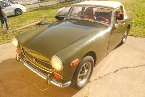 1973 MG Midget Green/Tan in very good condition Photo