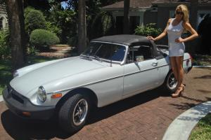very nicely restored classic  white MGB runs like a champ,also has ice cold ac Photo