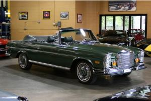 280SE CABRIOLET RARE LOW GRILLE - MOSS GREEN - RESTORED - SUPERB...