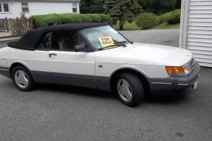 1989 SAAB 900 CONVERTIBLE TURBO 5-SPEED LOTS NEW PEARL WHITE PAINT SAAB 900  SPG