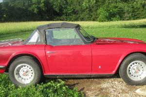 Triumph TR6 Red Convertible 43430 Original Miles Photo