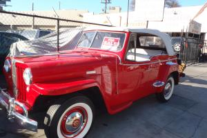 1948 WILLYS JEEPSTER OVERLAND 6 cyl Flathead OD