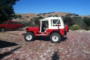 "Beautiful Red Willys Jeep with ""Best Top"" with Rollcage"