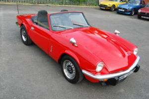 Triumph Spitfire 1500 convertible classic with hardtop LONG MOT FULLY RESTORED