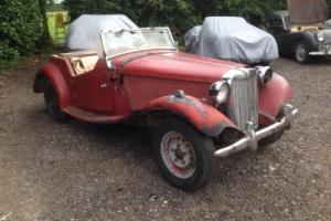 1951 MG TD For total restoration. USA Import LHD