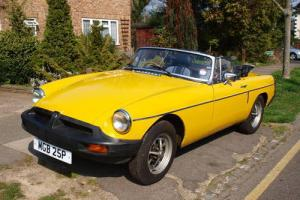 MGB Roadster Inca Yellow 1978