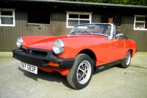 1976 MG Midget 1500 in Vermillion Red with black interior