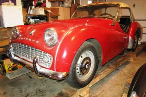 1961 Triumph TR3a TR3 Red Mostly Original TR3-A Roadster Convertible Type 20 Photo