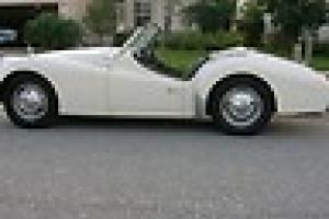1959 Triumph Tr3- A Roadster, White, Very Good condition Classic Vintage Photo