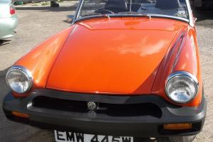 MG MIDGET, 1980, 1500cc Flamenco red.