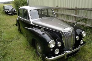 DAIMLER CONQUEST CENTURY SILVER and BLACK WEDDING CAR similar lanchester jaguar