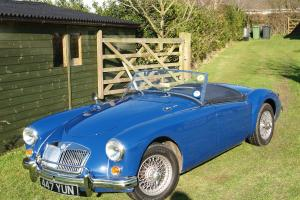 1955 MGA Roadster in Metalic Blue  Photo