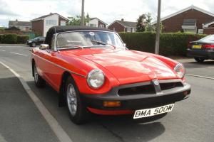 MGB ROADSTER IN VERMILLION RED 1981