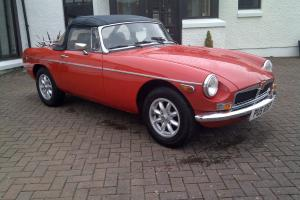 1976 MGB Roadster LHD Left hand Drive Chrome bumper