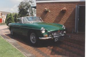MGB ROADSTER MK1 1964, BRG, OVERDRIVE PULL HANDLE VGC BLK LEATHER INT TAX EXEMPT