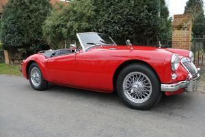 MGA ROADSTER 1500cc CHARIOT RED/BLACK INTERIOR, RESTORED CLASSIC CAR  Photo
