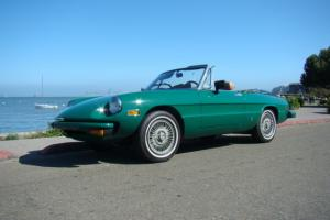 Alfa Romeo 2000 Spider Injected Rust Free Straight California Car Convertible