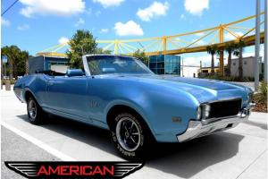 69 Olds Real 442 Convertible NOT A Clone Triple Blue 455 Hi Performance 4 Speed