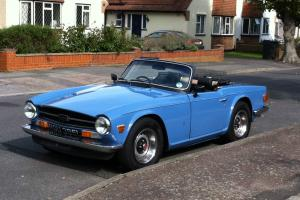 TRIUMPH TR6 in FRENCH BLUE with Overdrive  Photo