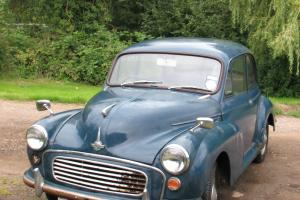 Classic Motor Car MORRIS MINOR 1000 Saloon Restoration Project Blue