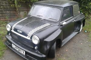 VERY SPECIAL MINI 1981 AUSTIN MORRIS HL BLACK, RARE BODY KIT , LIGHT PROJECT