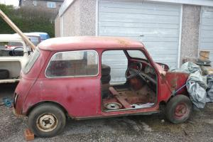 CLASSIC 1966 AUSTIN MORRIS MINI MK1 TAX FREE RESTORATION PROJECT BARN FIND