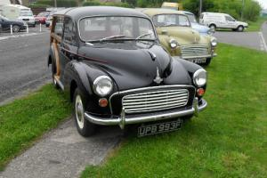 1968 Morris MINOR 1000 TRAVELER BLACK WITH RED TRIM.LOTS OF S HISTORY.GOOD WOOD.