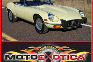 1974 XKE CONVERTIBLE, PRIMROSE YELLOW, BLACK INTERIOR, 5 SPEED TRANS, A/C