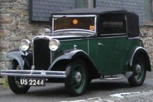 1933 Hillman Minx Tickford Burlington Coupe open top tourer under 25000 miles