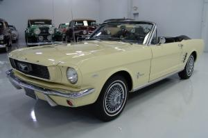 1966 FORD MUSTANG CONVERTIBLE, 289 CI/200 HP, C-4 AUTOMATIC!! STUNNING!