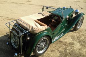 MG TC 1947 Ex Police car. Restored, dark green, beige interior, 5 speed gearbox
