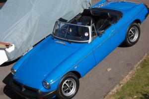MG ROADSTER CONVERTABLE 1977 CLASSIC SPORTS CAR, PAGENT BLUE, 12K RESTORED